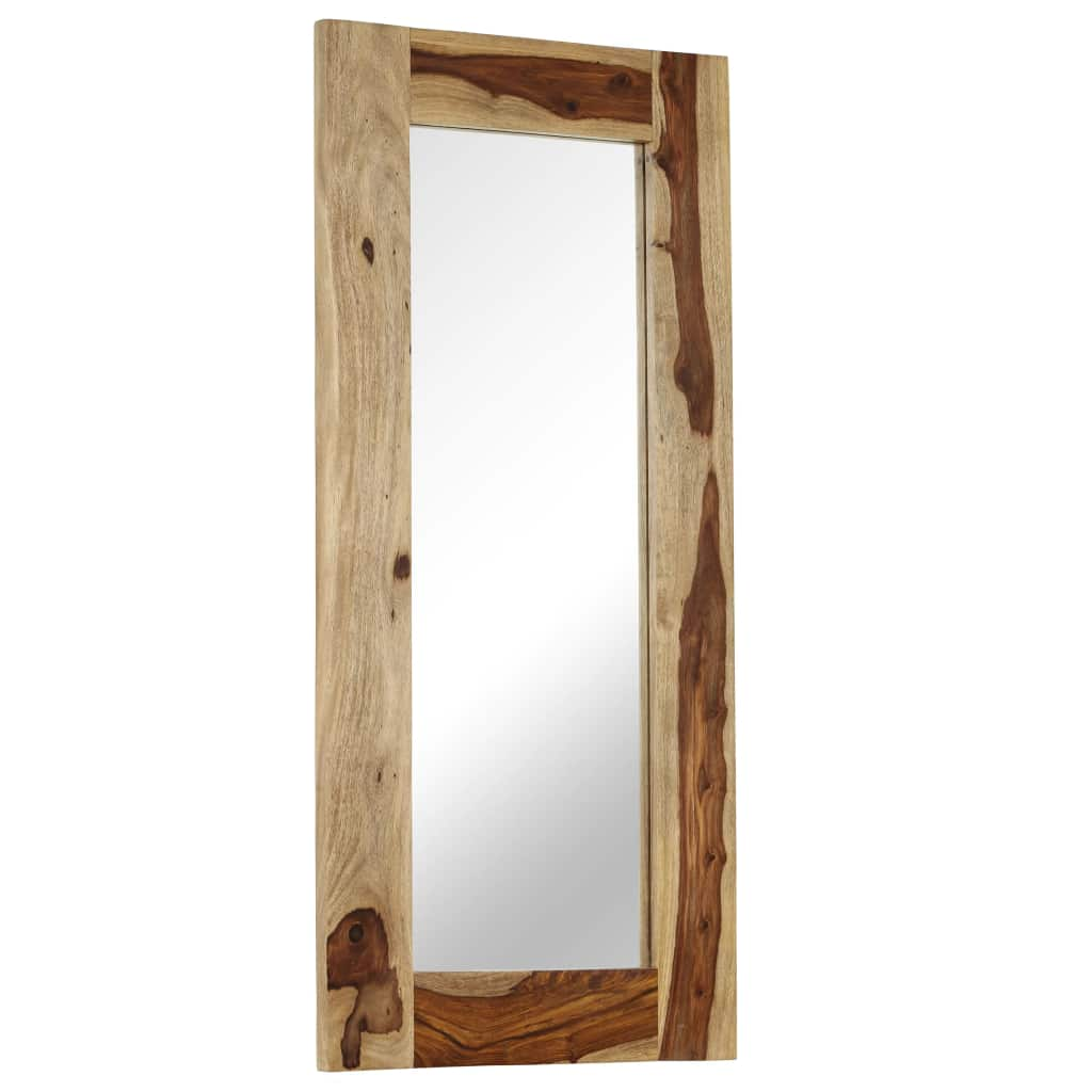 Mirror Solid Sheesham Wood 50x110 cm | Furniture Supplies UK