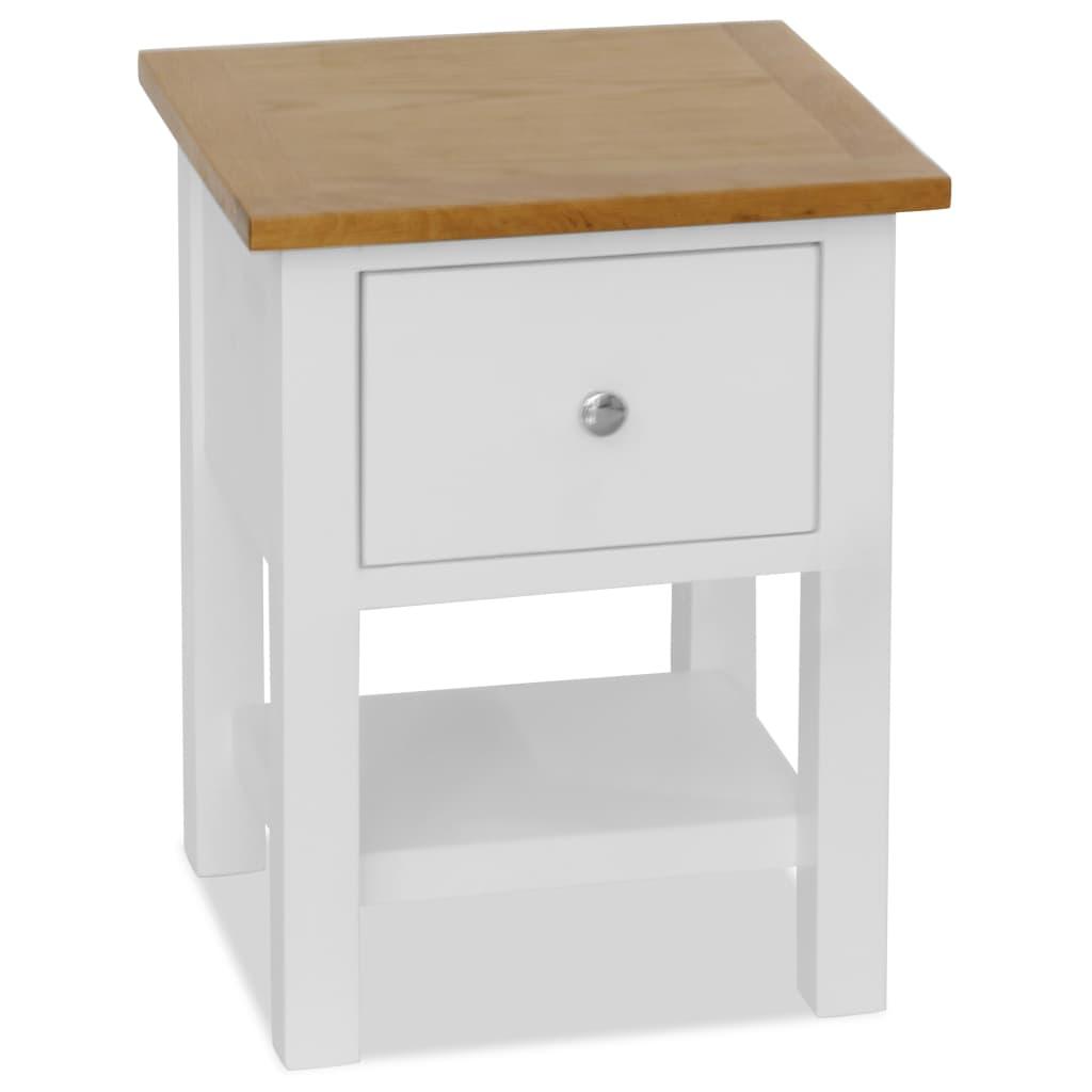 Nightstand 36x30x47 cm Solid Oak Wood | Furniture Supplies UK