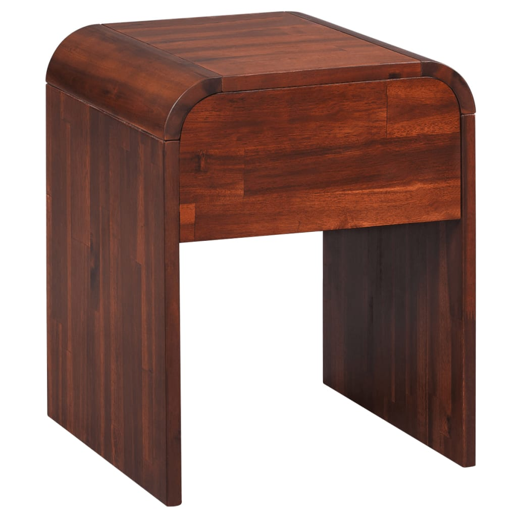 Nightstand 41.5x42x52 cm Solid Acacia Wood |  | Brown