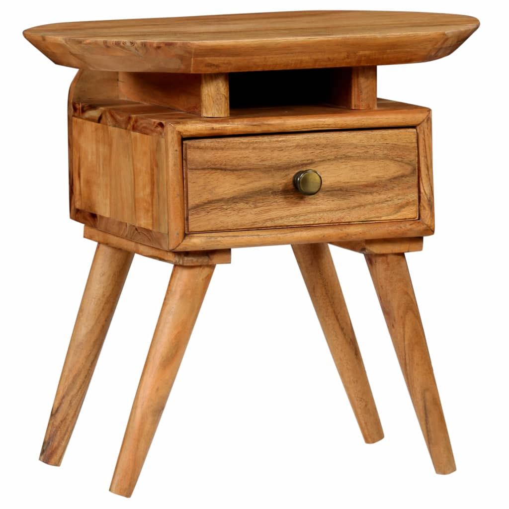 Nightstand Solid Acacia Wood 45x35x45 cm
