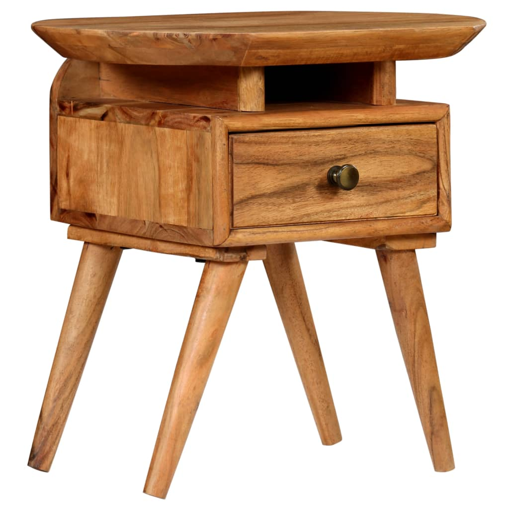 Nightstand Solid Acacia Wood 45x35x45 cm | Furniture Supplies UK
