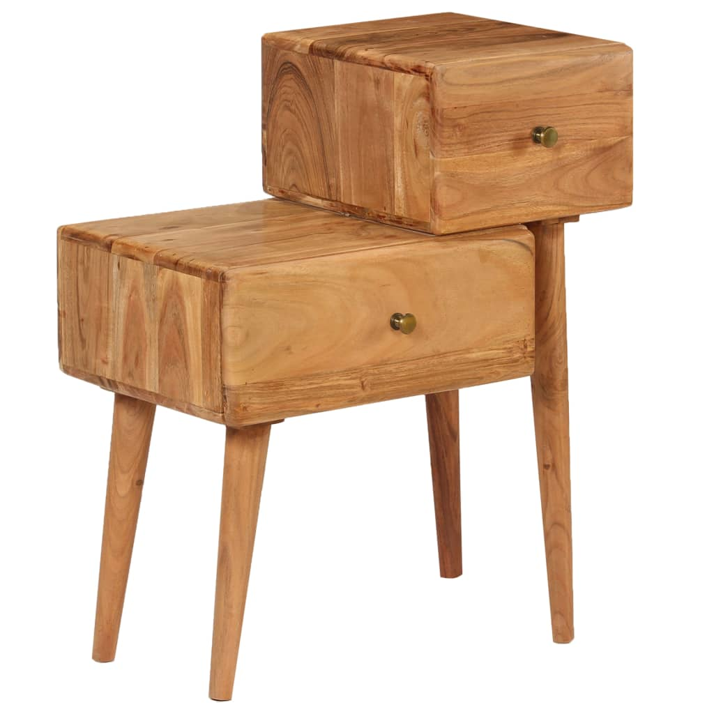 Nightstand Solid Acacia Wood 60x36x75 cm