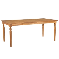 Outdoor Dining Table 170x90x75 cm Solid Acacia Wood | Furniture Supplies UK
