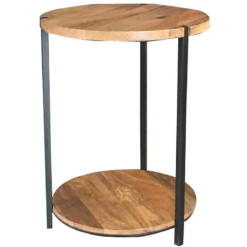 Ravi Industrial Double Circular Top Table | Furniture Supplies UK