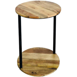 Ravi Industrial Double Round Top Table | Furniture Supplies UK