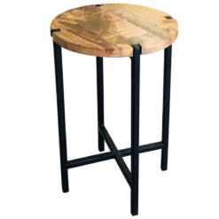Ravi Industrial Iron Base Plain Round Stool | Small | Furniture Supplies UK