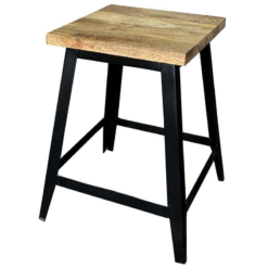 Ravi Industrial Iron Base | Small Stool | Furniture Supplies UK
