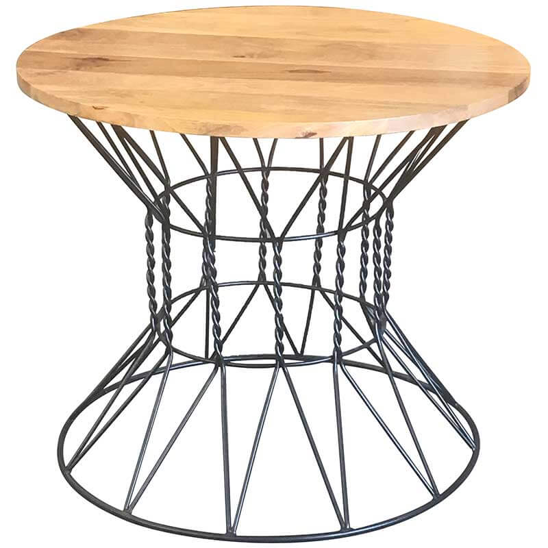 Ravi Industrial Round Dining Table With 4 Chairs | Furniture Supplies UK