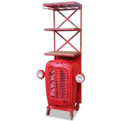 Retro Wow Tractor Bar Cabinet (Red) | Furniture Supplies UK