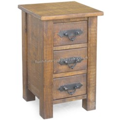 Rustic Farm Bedside Cabinet | Furniture Supplies UK