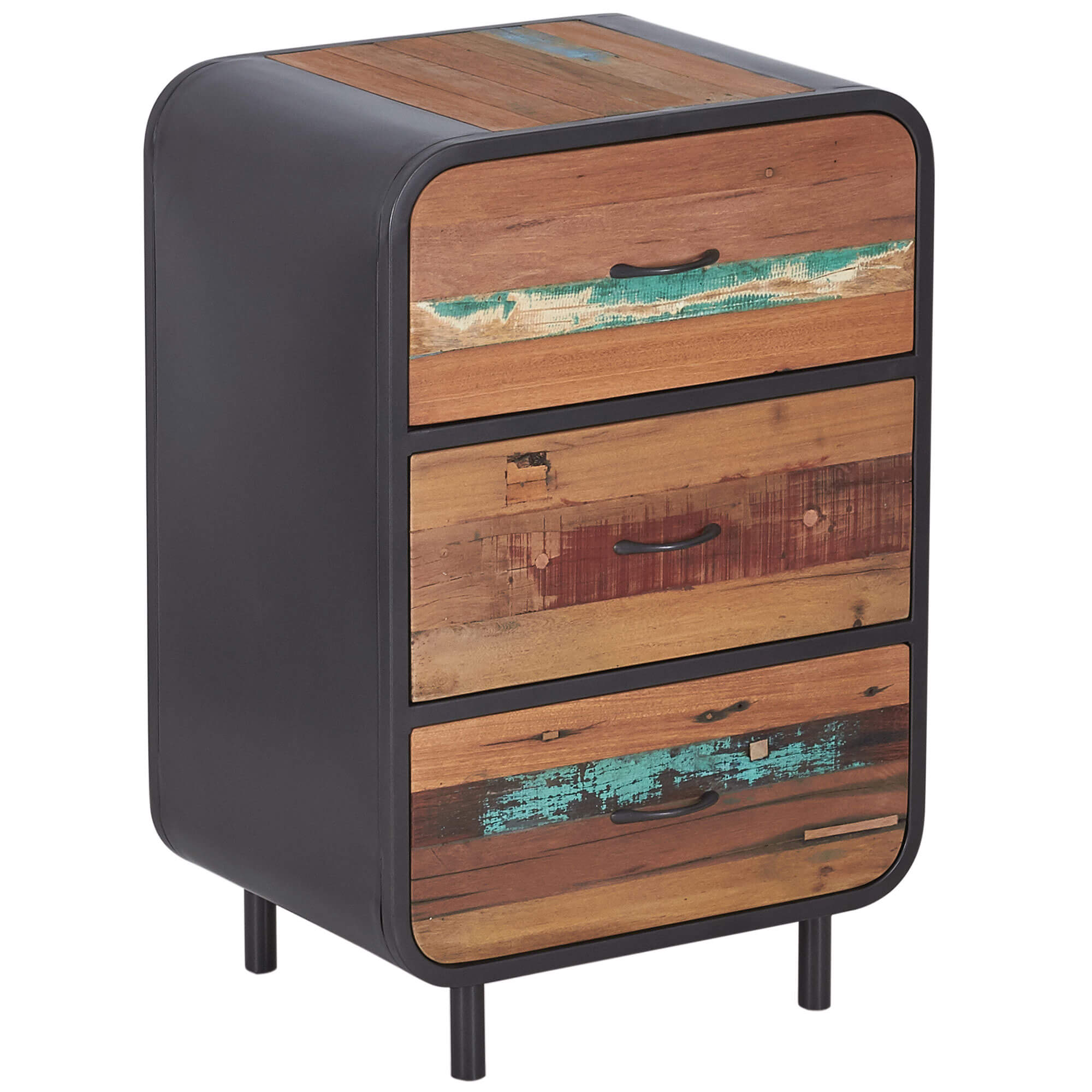 Seaside Retro High Dresser 3 Drawer | Furniture Supplies UK