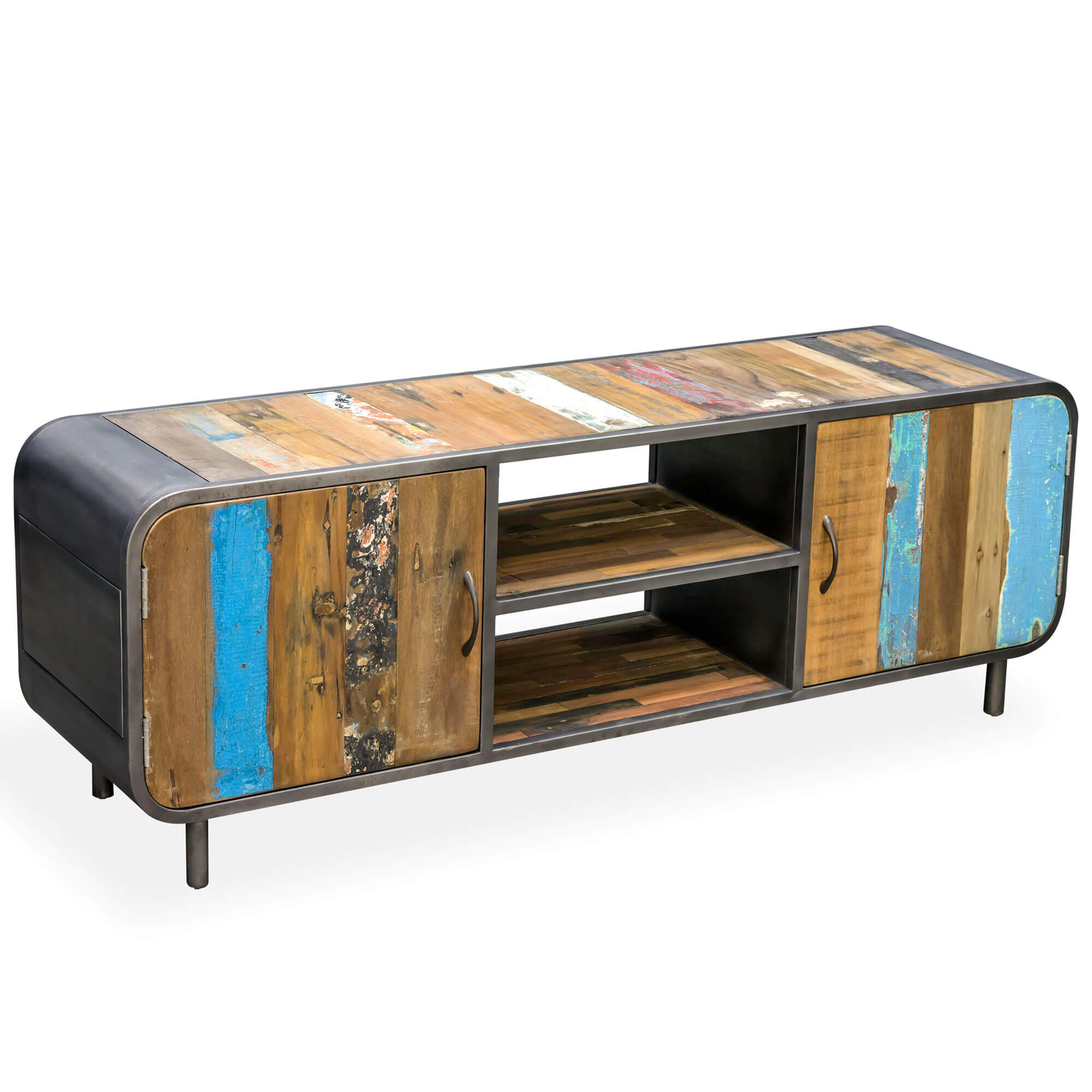 Seaside Retro Media/TV Unit with Doors |  |