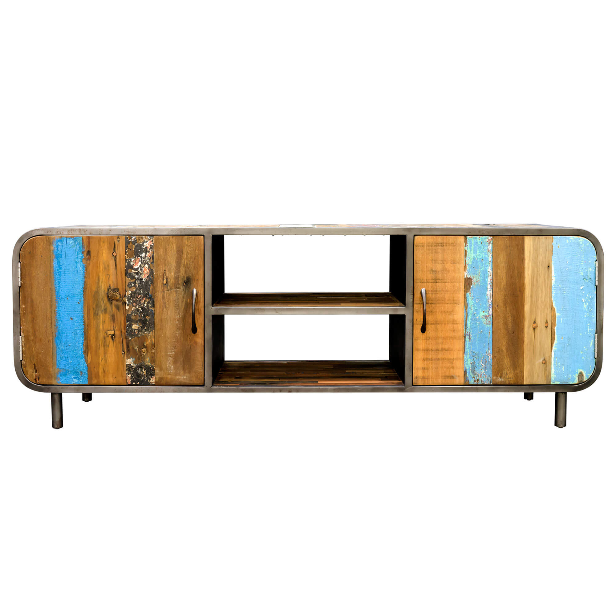 Seaside Retro Media/TV Unit with Doors | Furniture Supplies UK