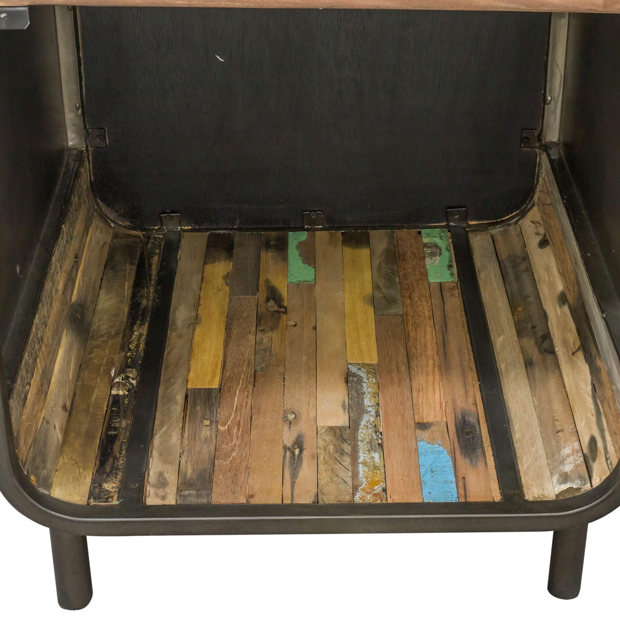 Light Wood Tone|Multi Seaside Retro Tall Cabinet with Shelves & Door