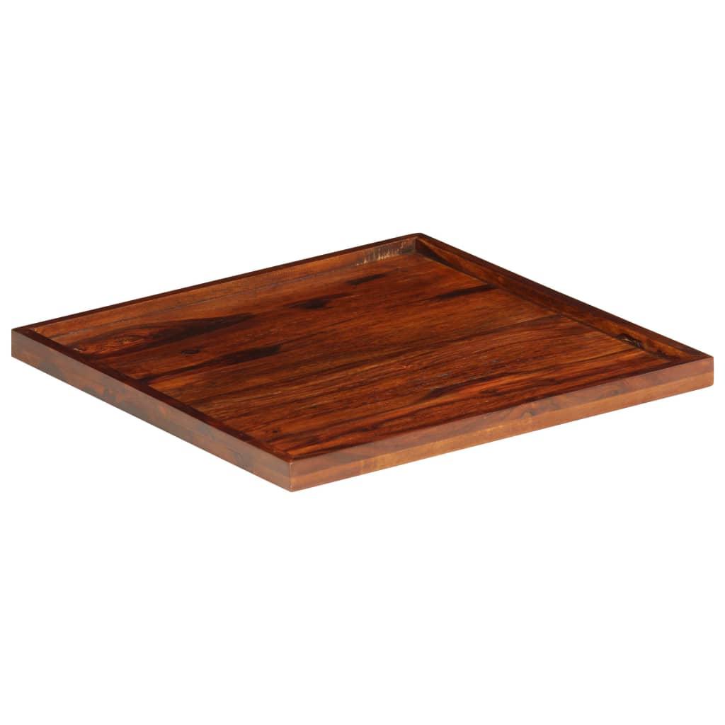 Serving Tray Solid Sheesham Wood 50x50 cm