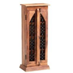 Sheesham Jali CD Tower | Furniture Supplies UK