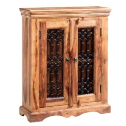 Sheesham Jali DVD Cabinet | Furniture Supplies UK