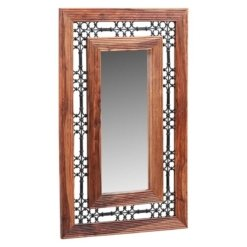 Sheesham Jali Large Rectangular Mirror | Furniture Supplies UK