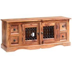 Sheesham Jali Plasma Media Unit | Furniture Supplies UK