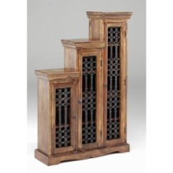 Sheesham Jali Step CD Cabinet | Furniture Supplies UK