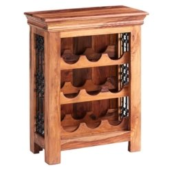Sheesham Jali Wine Rack | Furniture Supplies UK