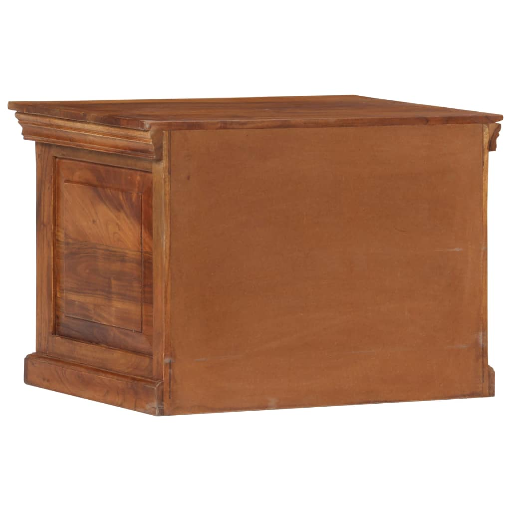 Shoe Cabinet 60x40x41 cm Solid Acacia Wood