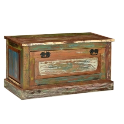 Shoe Storage Bench Solid Reclaimed Wood | Furniture Supplies UK