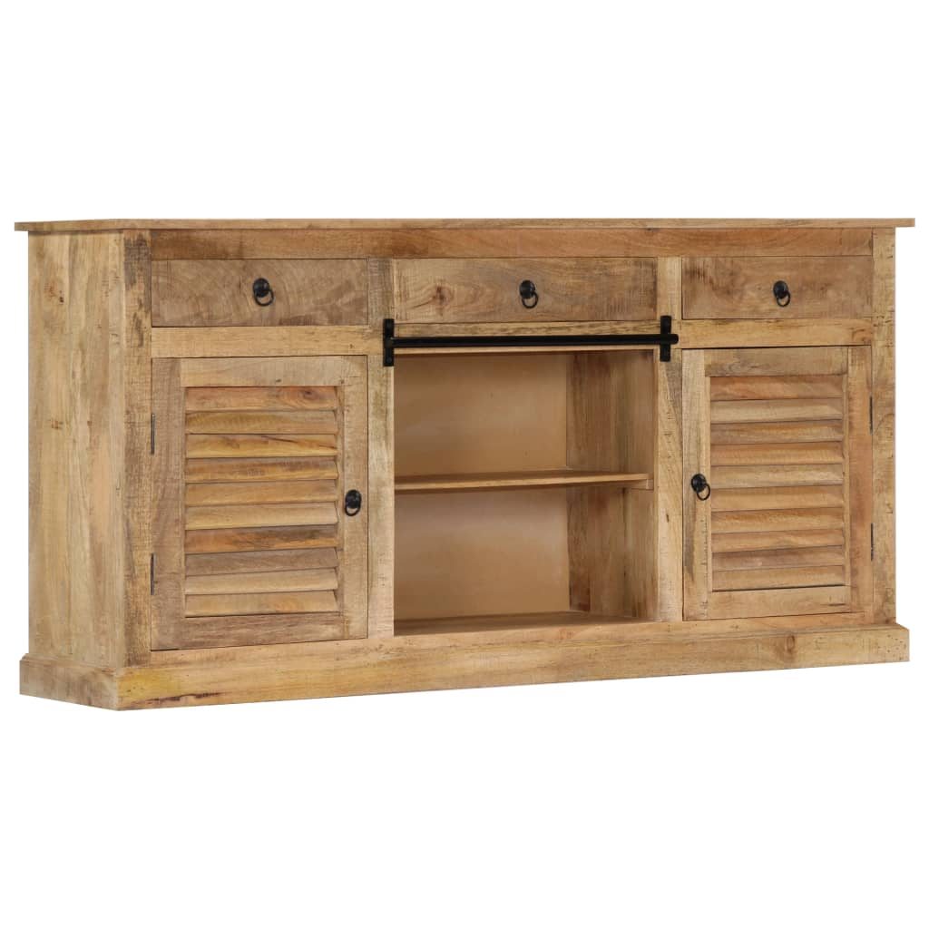 Side Cabinet 160x38x80 cm Solid Mango Wood | Furniture Supplies UK
