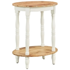 Side Table 50x40x66 cm Solid Acacia Wood   Furniture Supplies UK