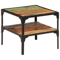 Side Table Solid Reclaimed Wood 45x45x40 cm   Furniture Supplies UK