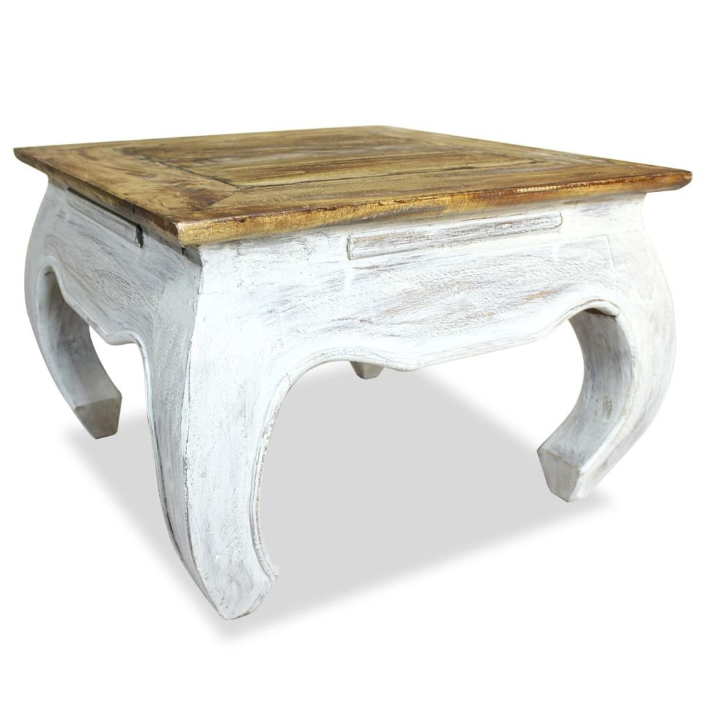Side Table Solid Reclaimed Wood 50x50x35 cm | Furniture Supplies UK