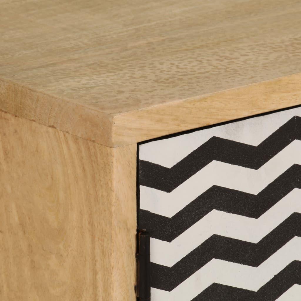 Sideboard 120x30x75 cm Solid Mango Wood |  | Multicolour