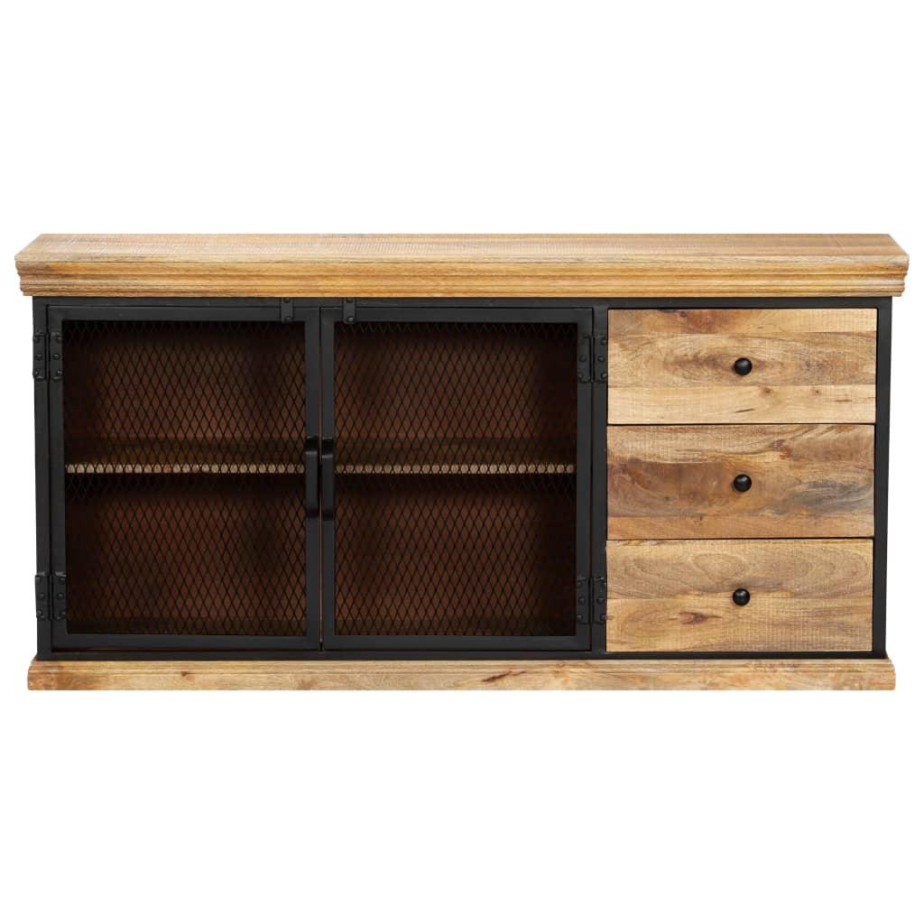 Sideboard 150x40x75 cm Solid Mango Wood      Brown