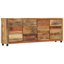 Sideboard Cabinet 200x38x79 cm Solid Reclaimed Wood | Furniture Supplies UK