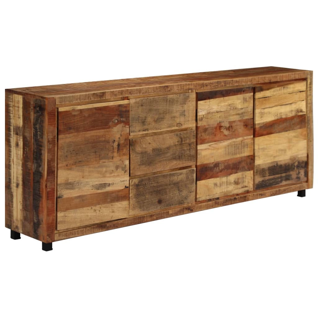 Sideboard Cabinet 200x38x79 cm Solid Reclaimed Wood