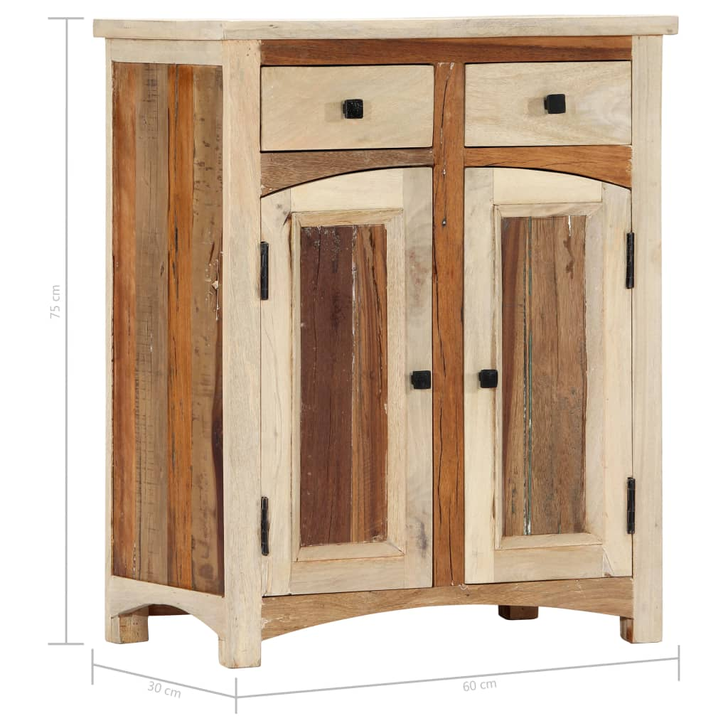 Sideboard Cabinet 60x30x75 cm Solid Reclaimed Wood
