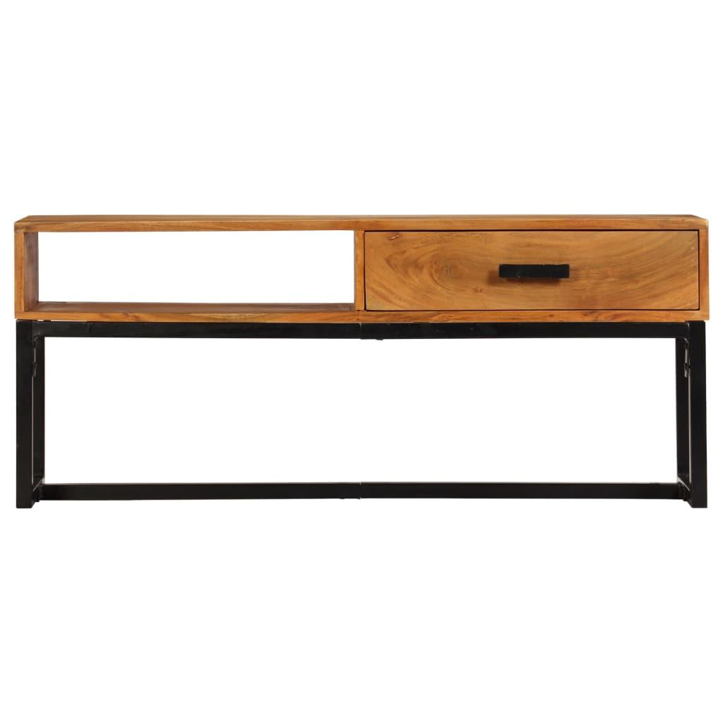 Sideboard Solid Acacia Wood 110x30x45 cm      Brown