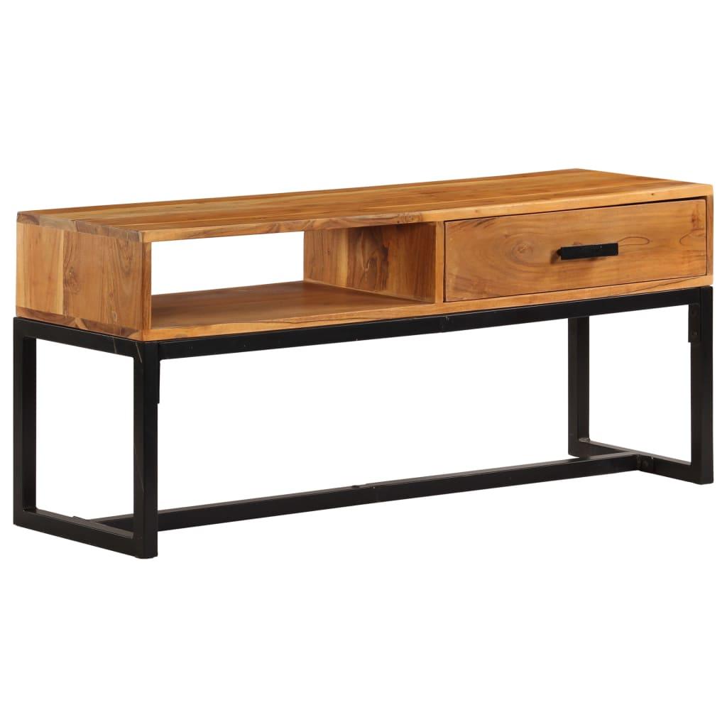 Sideboard Solid Acacia Wood 110x30x45 cm