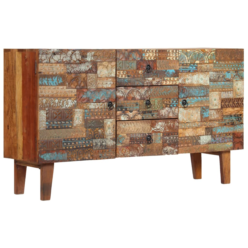 Sideboard Solid Reclaimed Wood 140x40x80 cm | Furniture Supplies UK