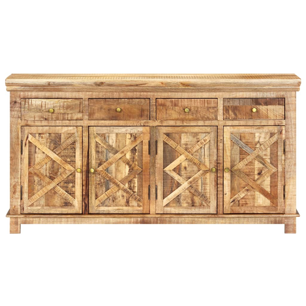Sideboard with 4 Drawers 160x40x85 cm Solid Mango Wood