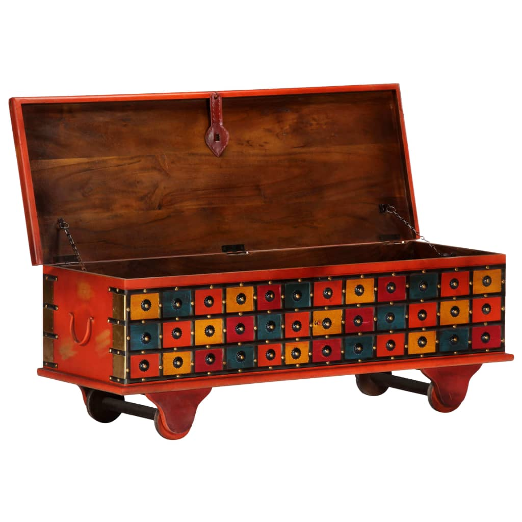 Storage Box Red 110x40x40 cm Solid Acacia Wood |  | Red