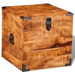 Storage Chest Cubic Rough Mango Wood | Furniture Supplies UK