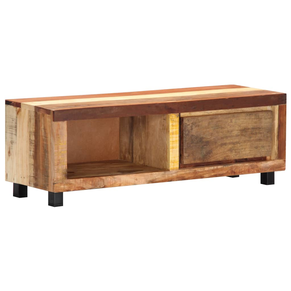 TV Cabinet 100x30x33 cm Solid Reclaimed Wood | Furniture Supplies UK