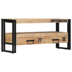 TV Cabinet 100x30x45 cm Solid Mango Wood | Furniture Supplies UK