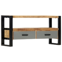 TV Cabinet 100x30x50 cm Solid Mango Wood | Furniture Supplies UK