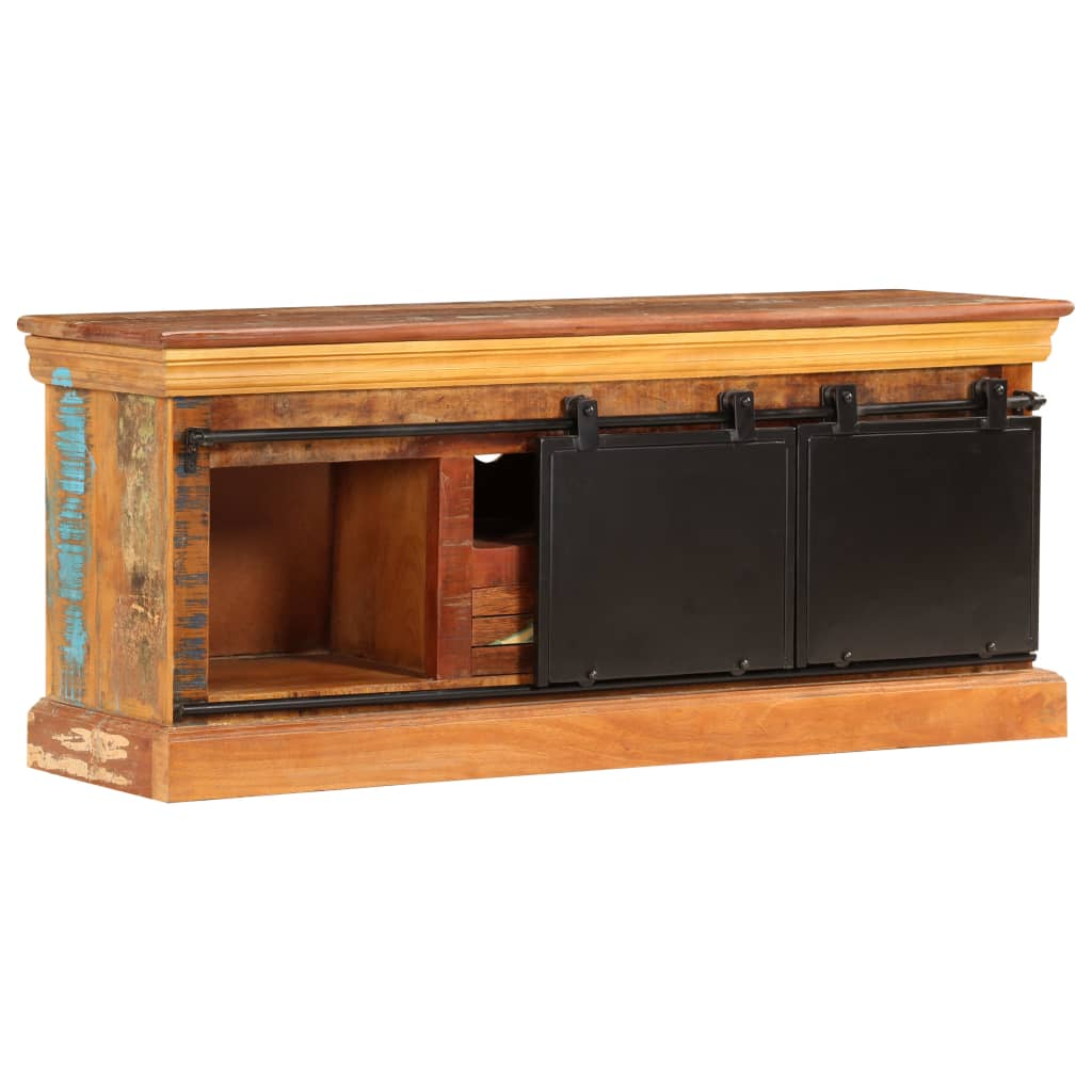 TV Cabinet 110x30x45 cm Solid Reclaimed Wood