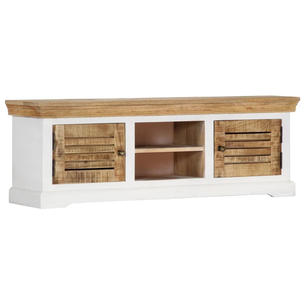 TV Cabinet 118x30x40 cm Solid Mango Wood | Furniture Supplies UK