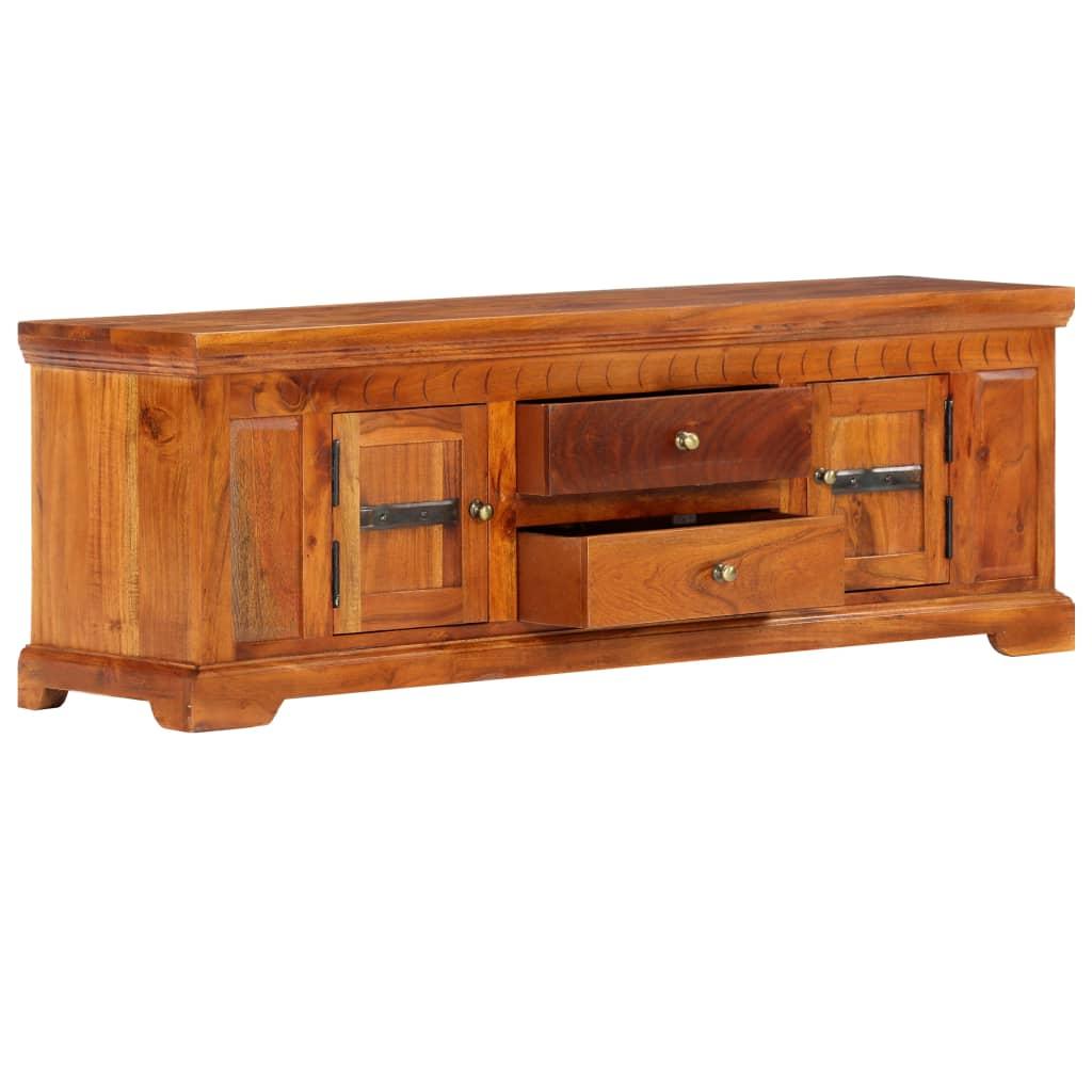 TV Cabinet 119x30x40 cm Solid Acacia Wood
