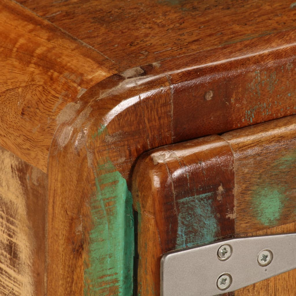 TV Cabinet 120x30x37 cm Solid Reclaimed Wood      Multicolour