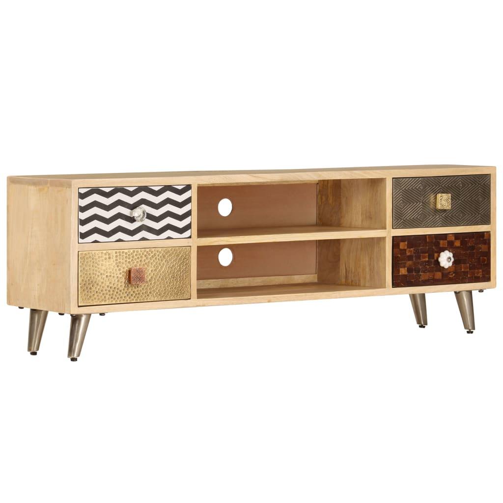 TV Cabinet 120x30x40 cm Solid Mango Wood | Furniture Supplies UK